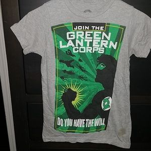 DC Comics gray green lantern tshirt top xs